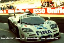 McLaren F1 GTR BMW. Piquet/Sullivan/Cecotto.Photo.  Le Mans 1996 .Pulling into pit.